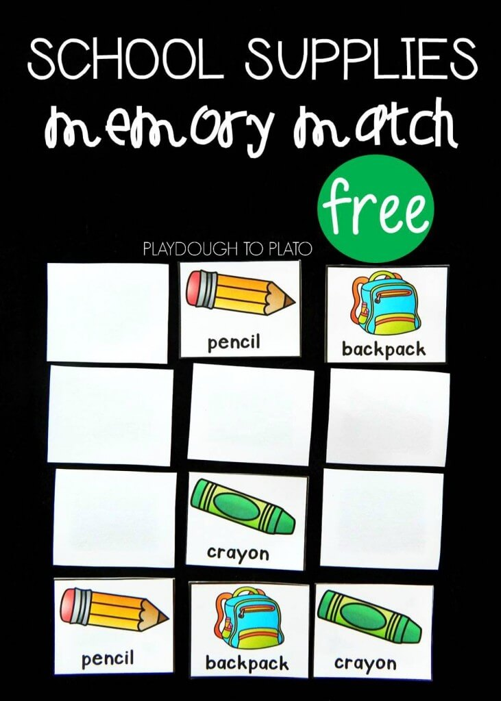 back to school memory match 1