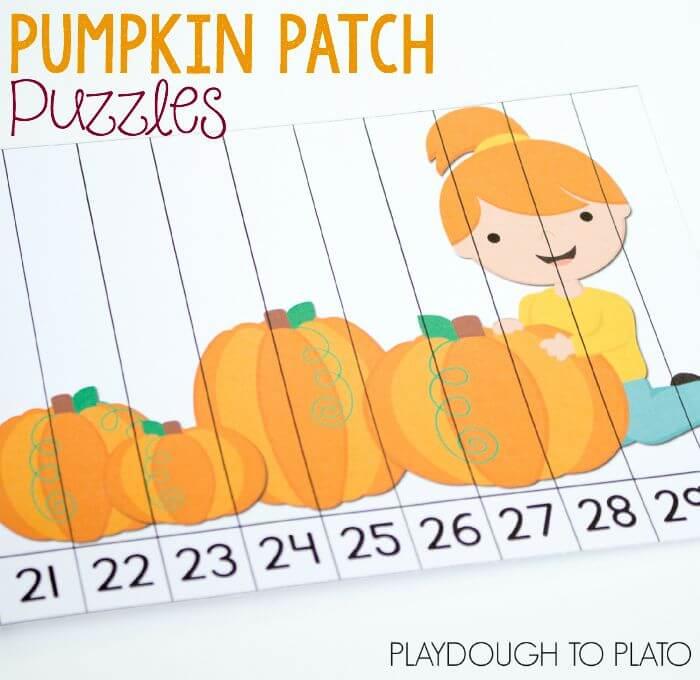 pumpkin patch puzzle square