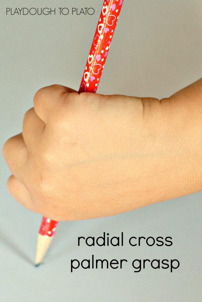 radial cross palmer grasp - Playdough to Plato