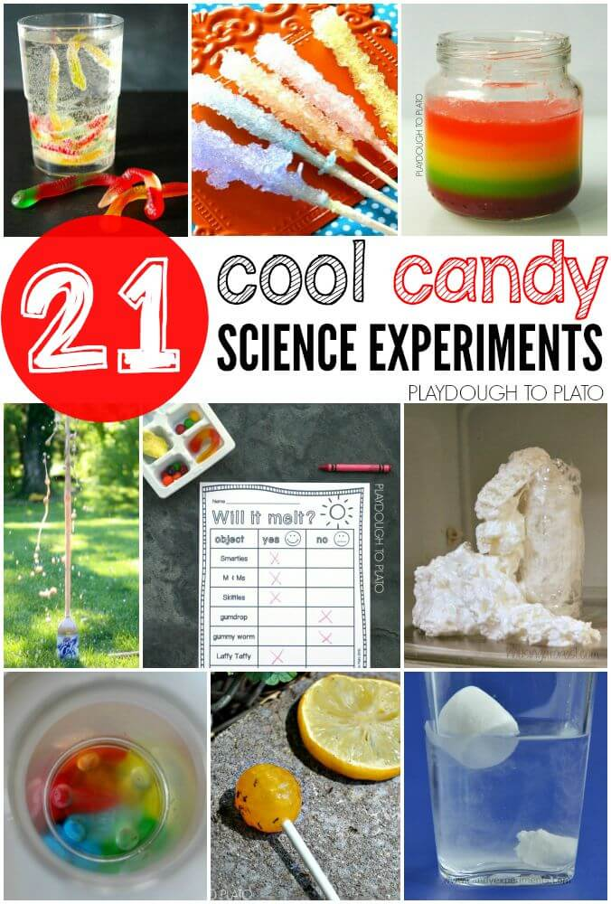 science projects candy fair experiments cool activities experiment fun classroom project food halloween kid easy playdoughtoplato perfect using stem class