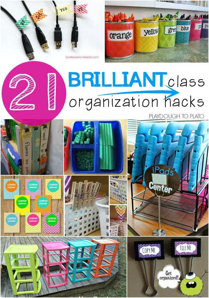 Classroom Organization Ideas High School ~ Brilliant classroom organization hacks playdough to plato