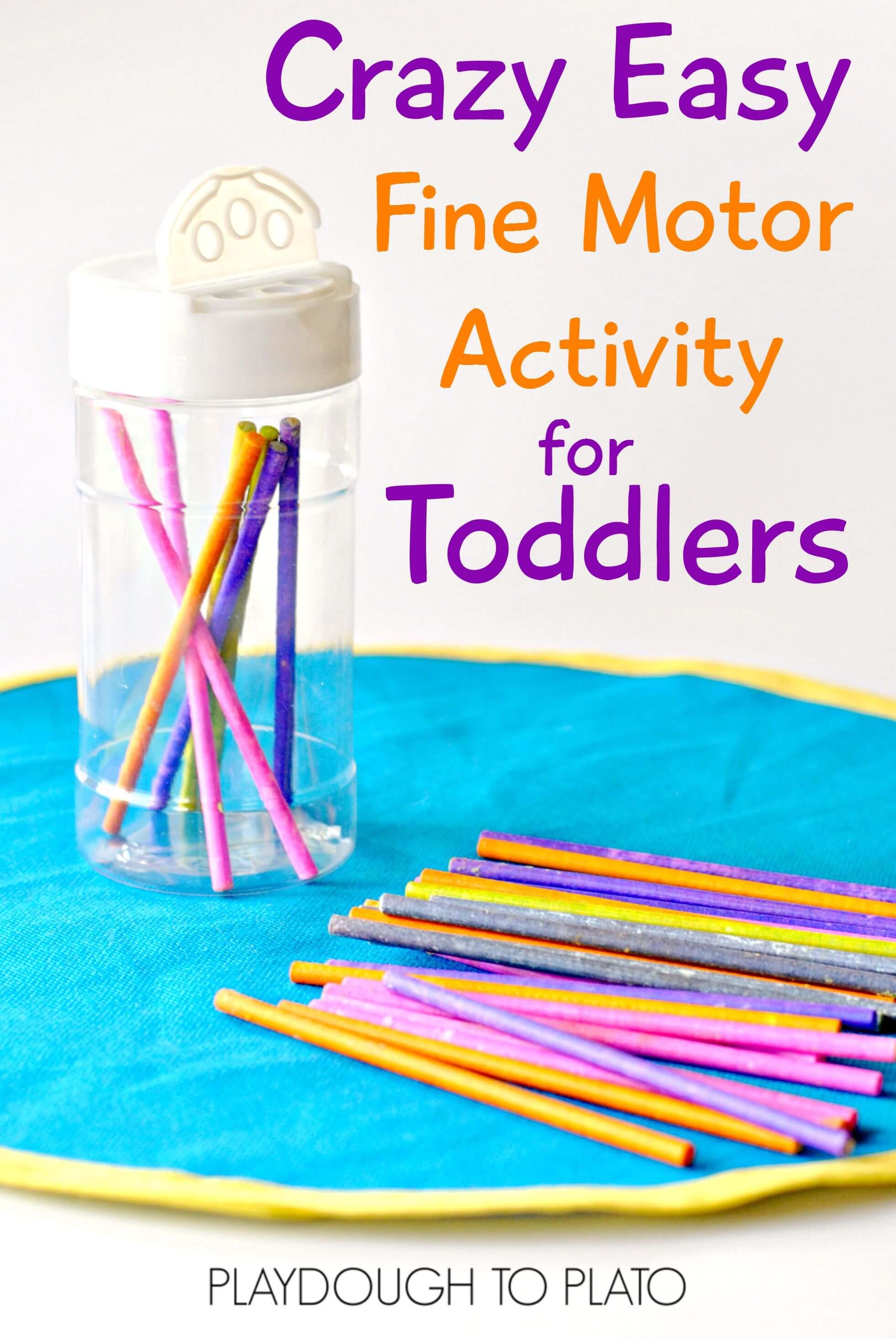 Easy fine motor activity for toddlers for Playdough fine motor skills
