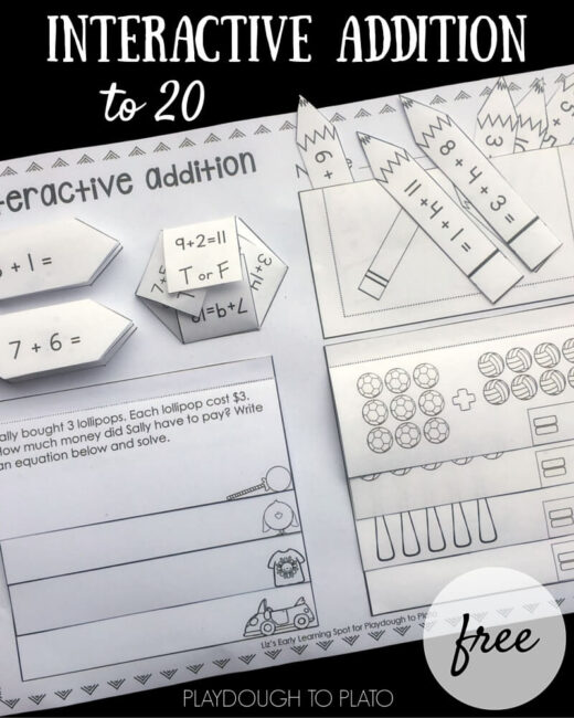 A fun way to practice interactive addition to 20!