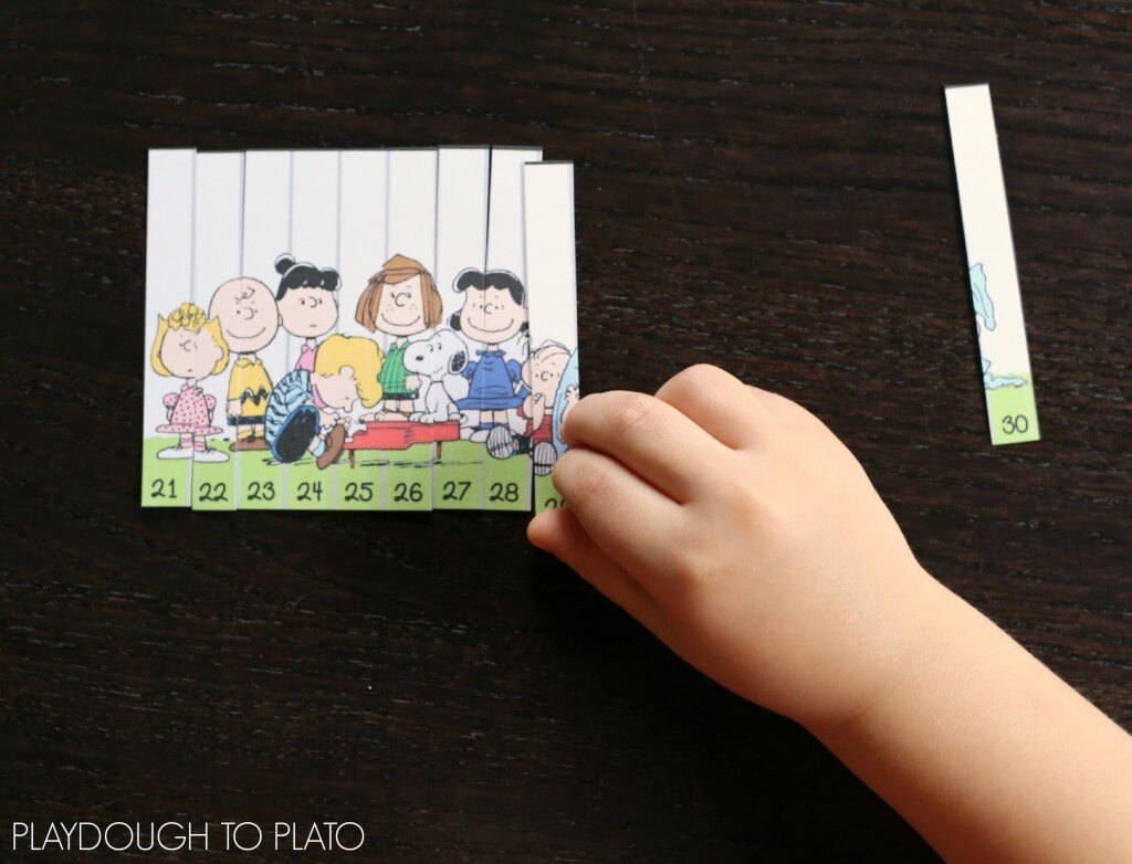 Adorable Peanuts Number Puzzles for 1-40!