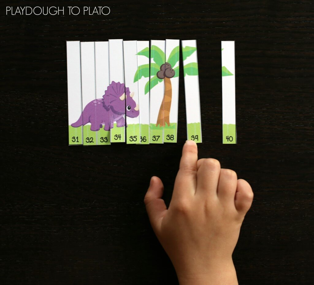 Awesome dinosaur number puzzles. What a fun way for kids to practice the numbers 1 to 100!!