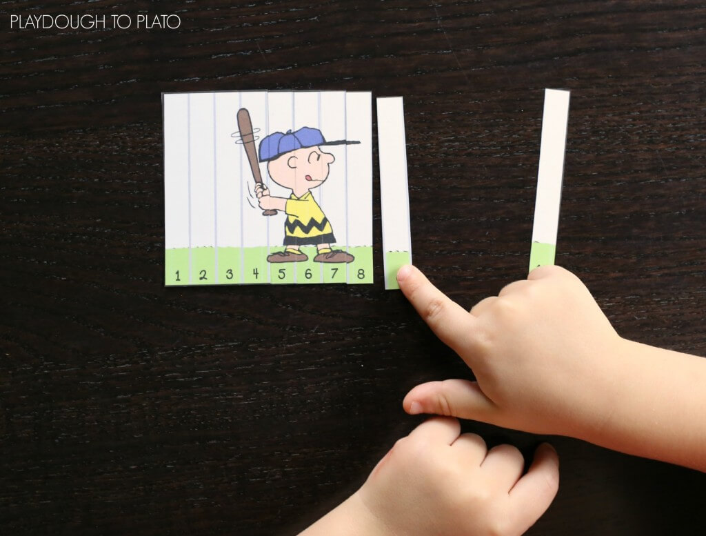 Fun Peanuts Number Puzzles for 1-40!