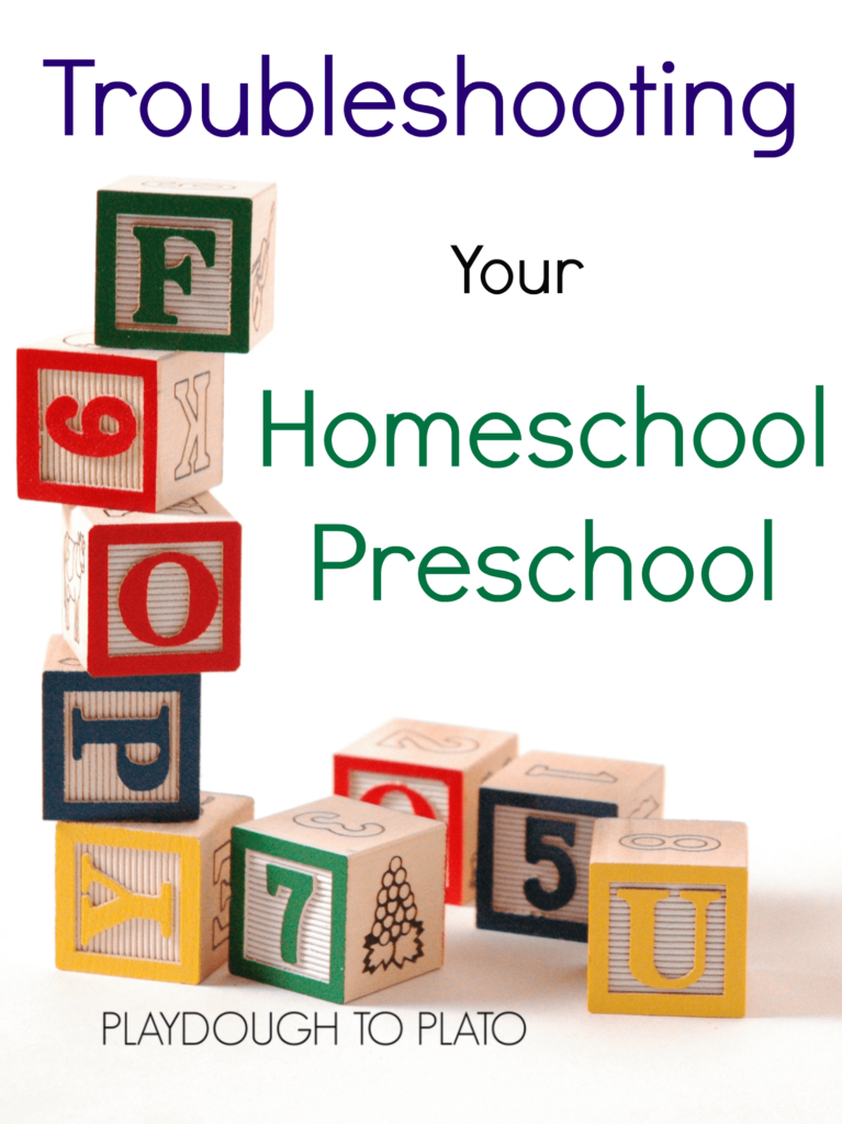 Homeschool preschool not going the way you imagined Try these simple tips to improve your preschool day.
