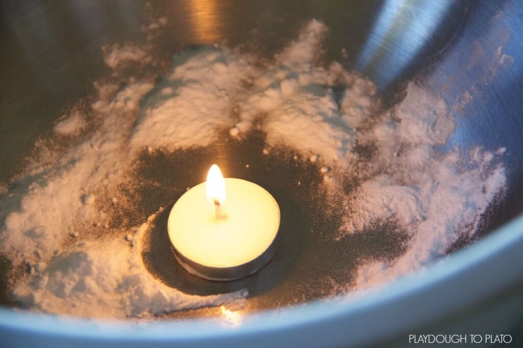 CANDLE MAGIC WITH BAKING SODA
