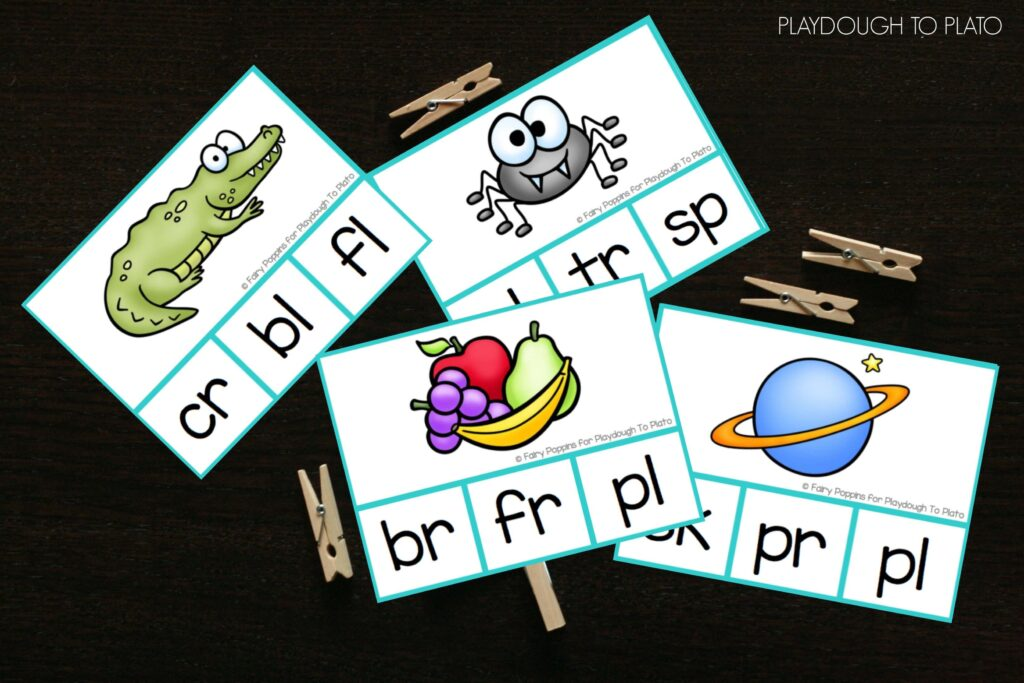 Fun blend clip cards. These would be a great guided reading activity, literacy center, word work station... so many possibilities!