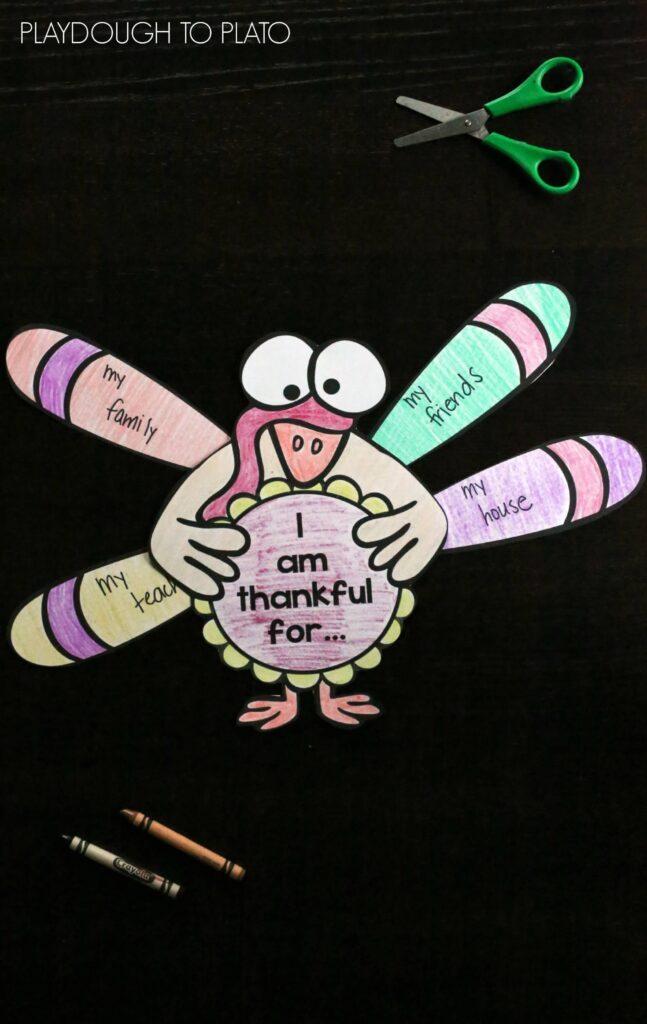 Super cute Thanksgiving craftivity! I am thankful for...