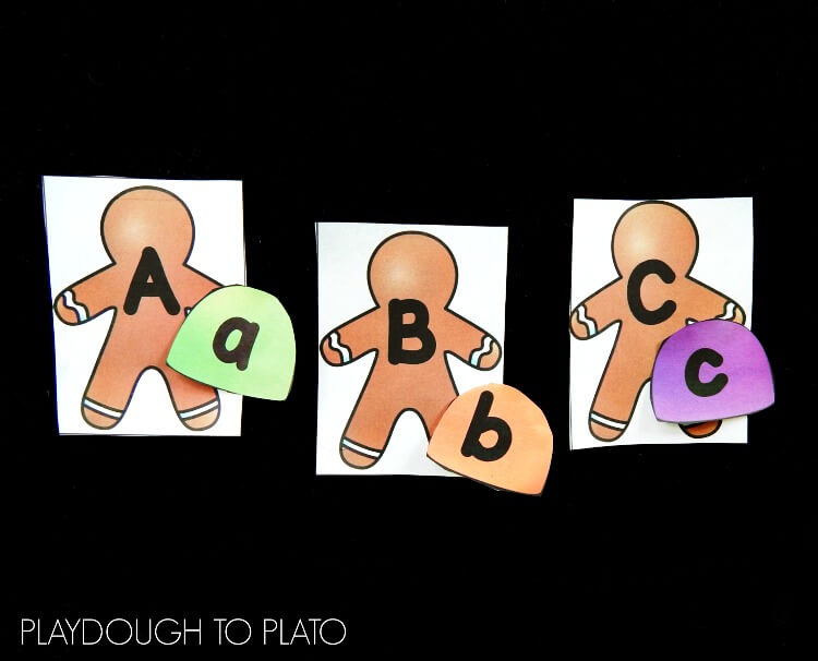 gingerbread alphabet match 1