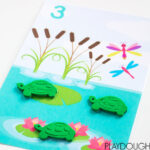 Pond Counting Mats: Numbers 1-10