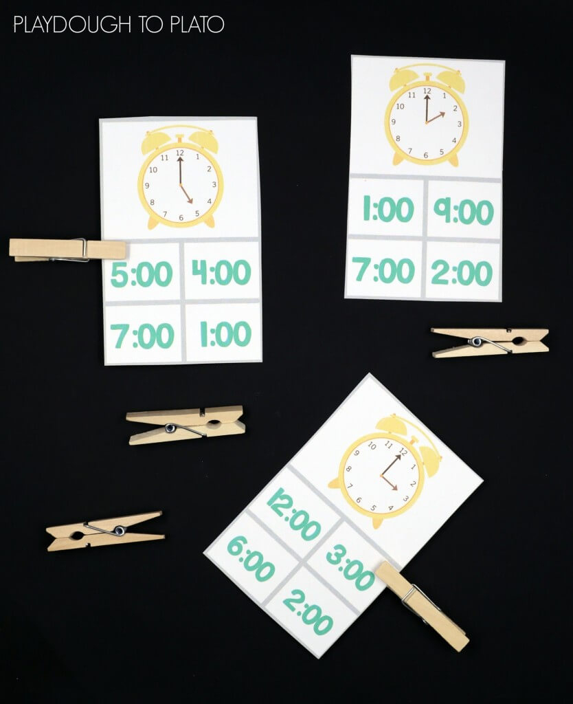 Telling Time Clip Cards! Such a fun way to work on reading a clock.