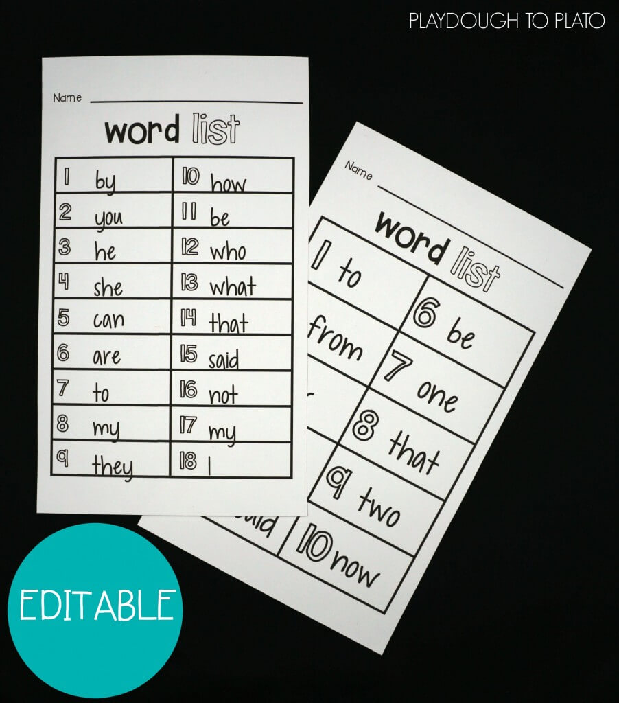 This word work activity pack is awesome! It's totally editable so you can use it with any words under the sun.