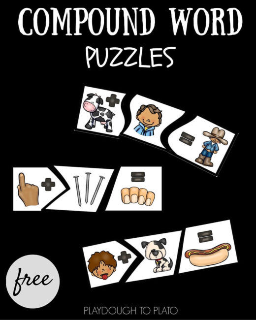 Learn how words can be put together to create new ones with these fun compound word puzzles!