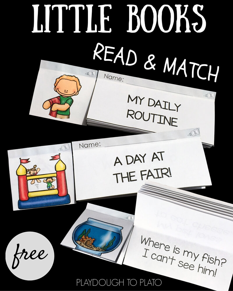 Download these free little books for some quick and fun reading and comprehension practice!