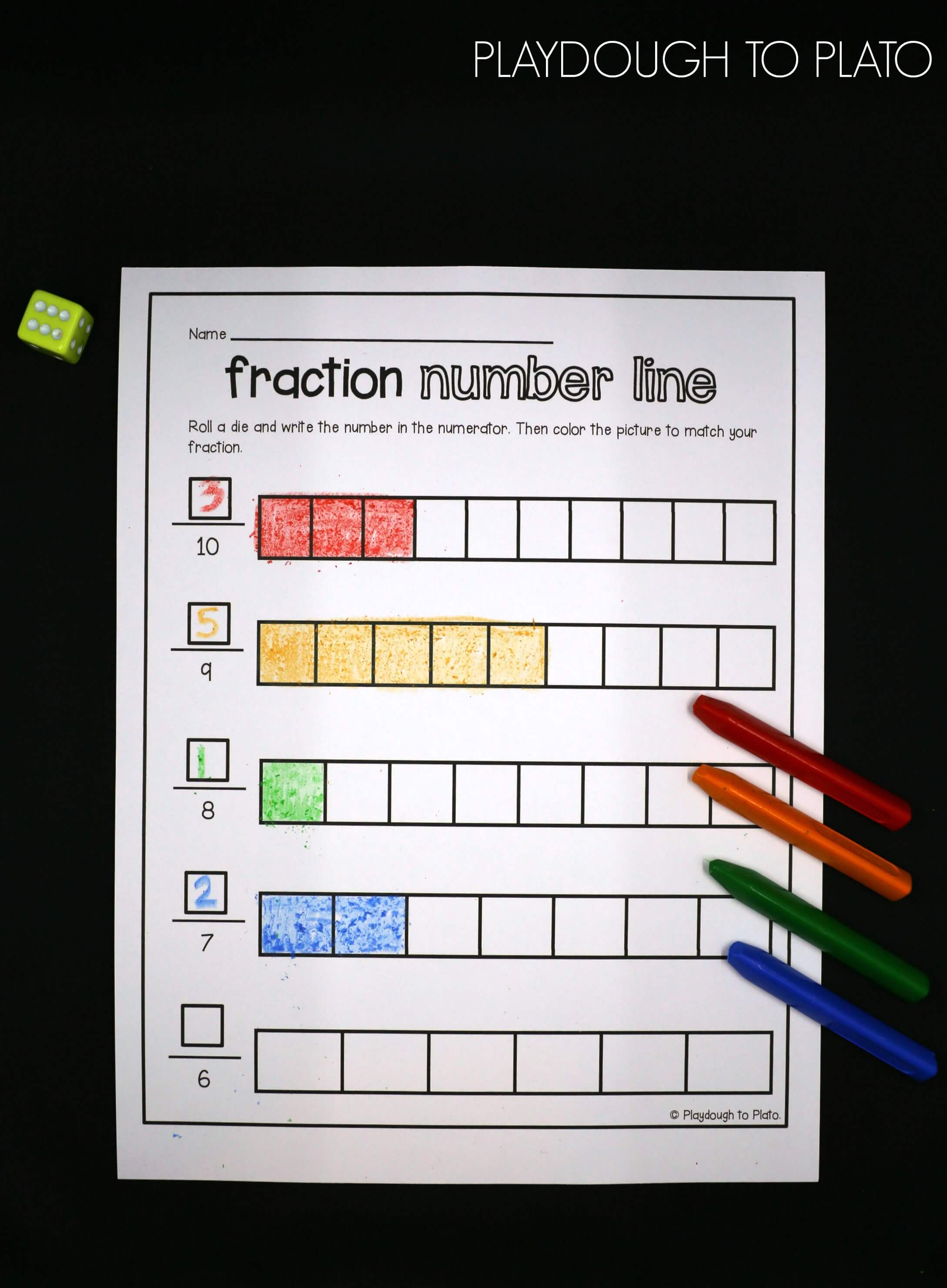 fraction activity pack  playdough to plato fraction activity pack