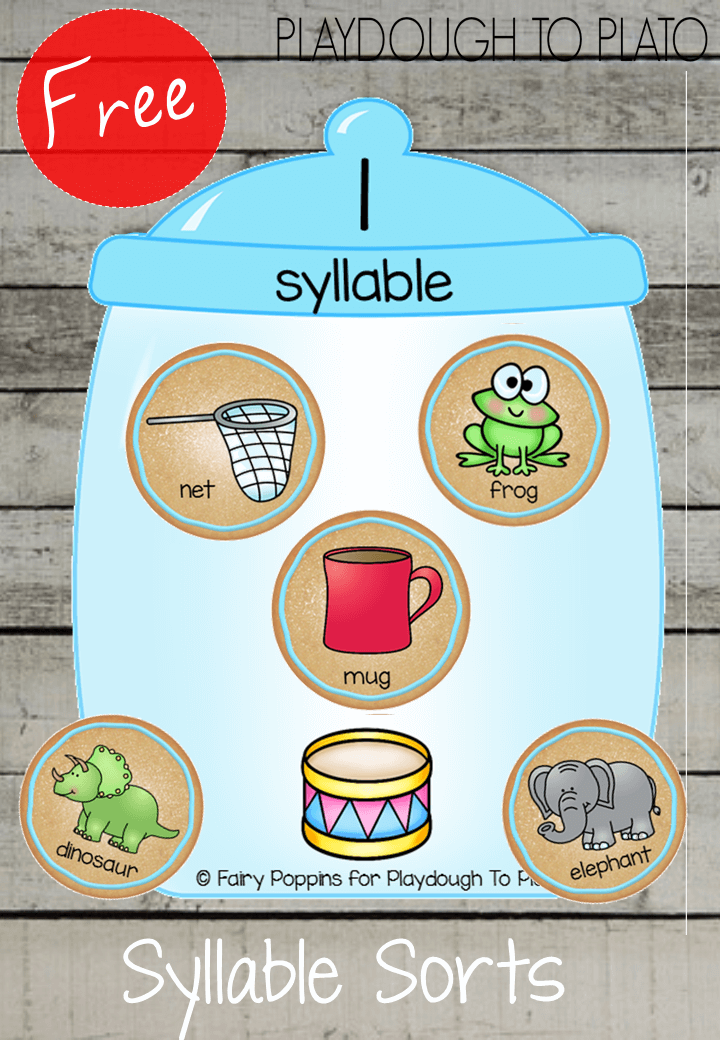 Syllable Cookie Jar Sort