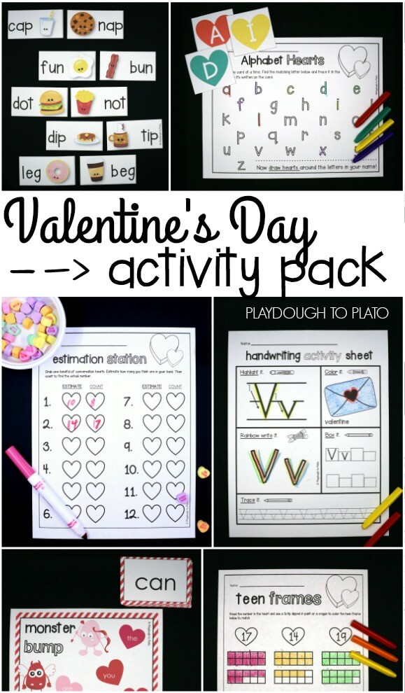 Valentine S Addition And Subtraction Game Playdough To Plato