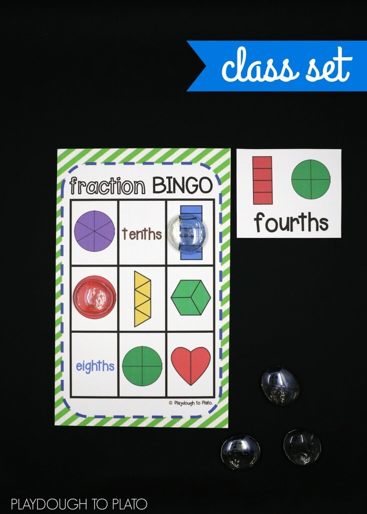 Such a fun fraction activity for kids! Play Fraction Bingo!!