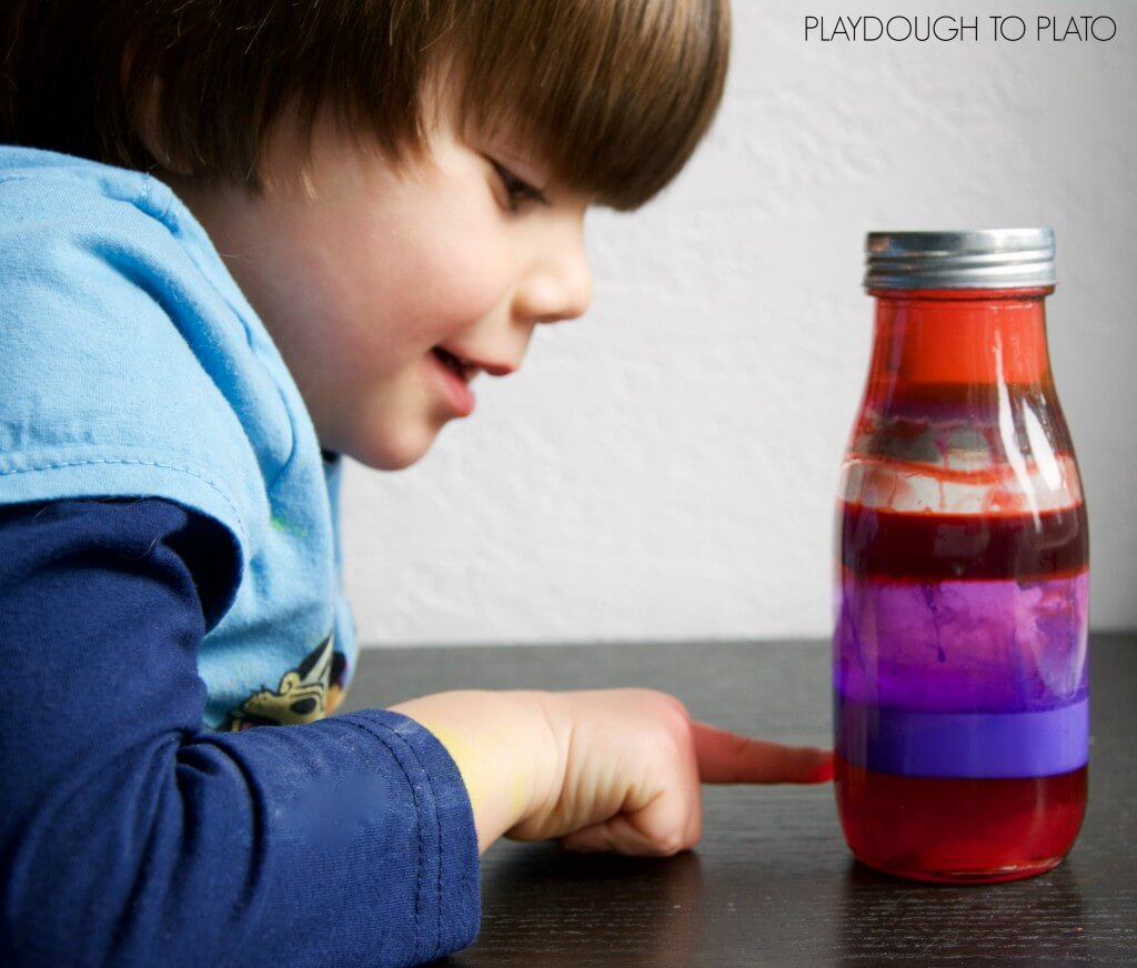 Such a fun science experiment for Valentine's Day! Make a bottle of love potion.