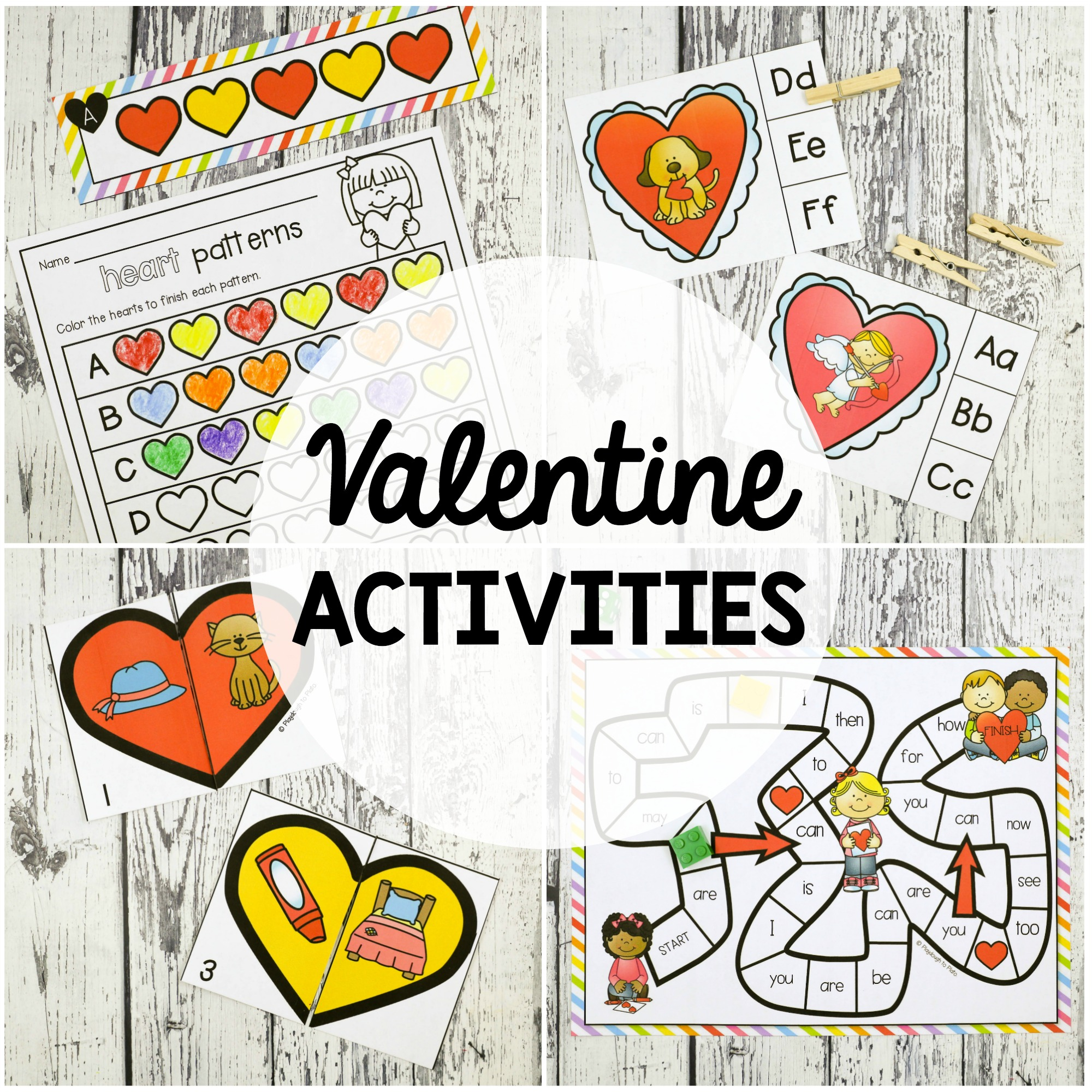 Valentine S Day Activity Pack Playdough To Plato
