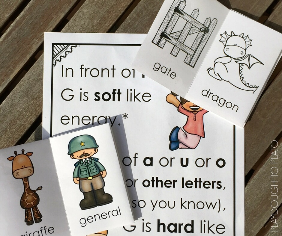 These free activities will give your kids lots of practice with hard and soft G letter sounds!