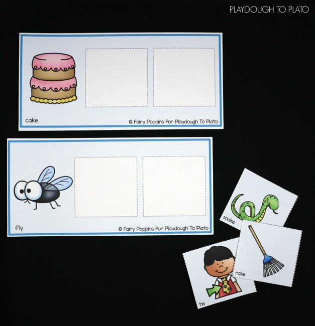 FREE Rhyming Picture Mats. What a fun rhyming activity for preschool or kindergarten.