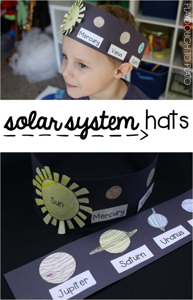 I love these solar system hats!! Such a fun way to learn the order of the planets from the sun!