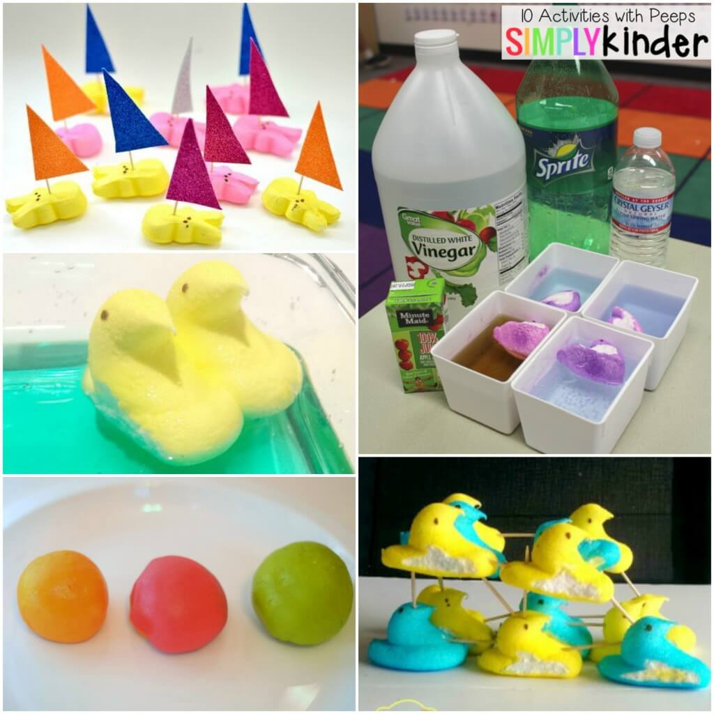 Lots of fun Peeps science experiments for kids!