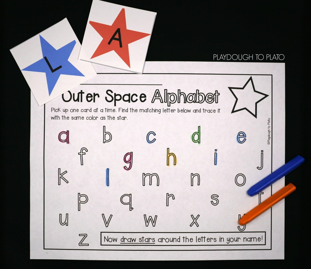 Match upper and lowercase letters with a round of Outer Space Alphabet!