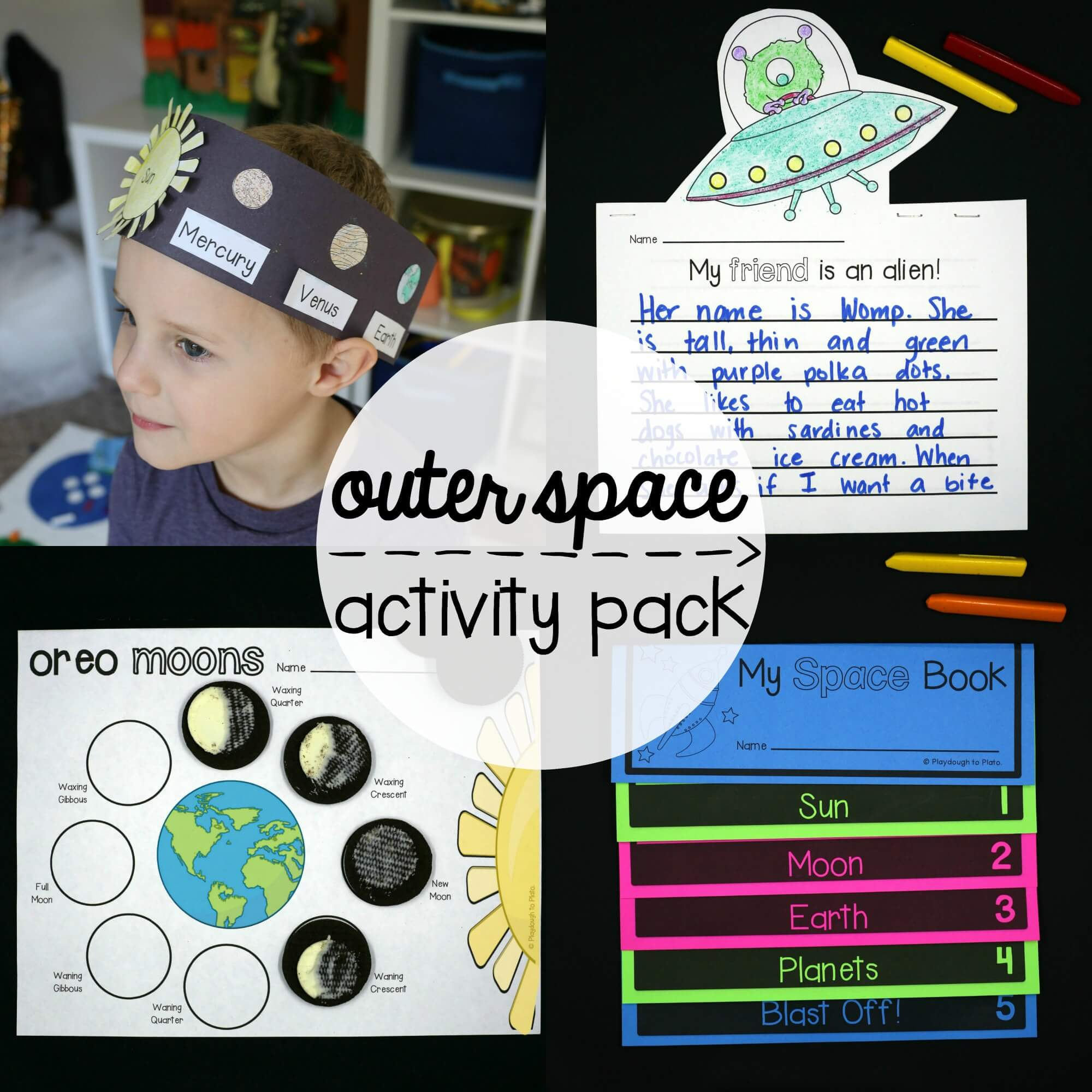 Outer Space Activity Pack on First Grade Solar System Worksheets