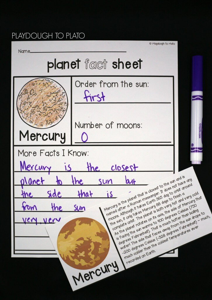 Study each planet in depth with ready to read fact cards and planet fact sheets.