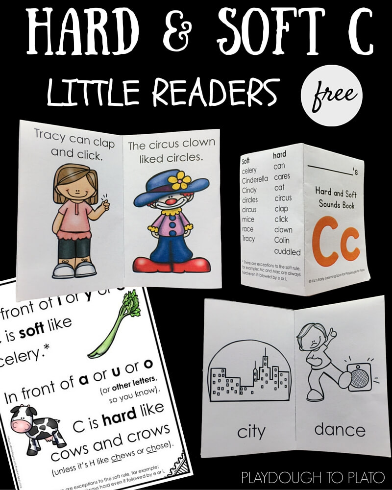 These free soft and hard C little readers are great for differentiating between the two C sounds.
