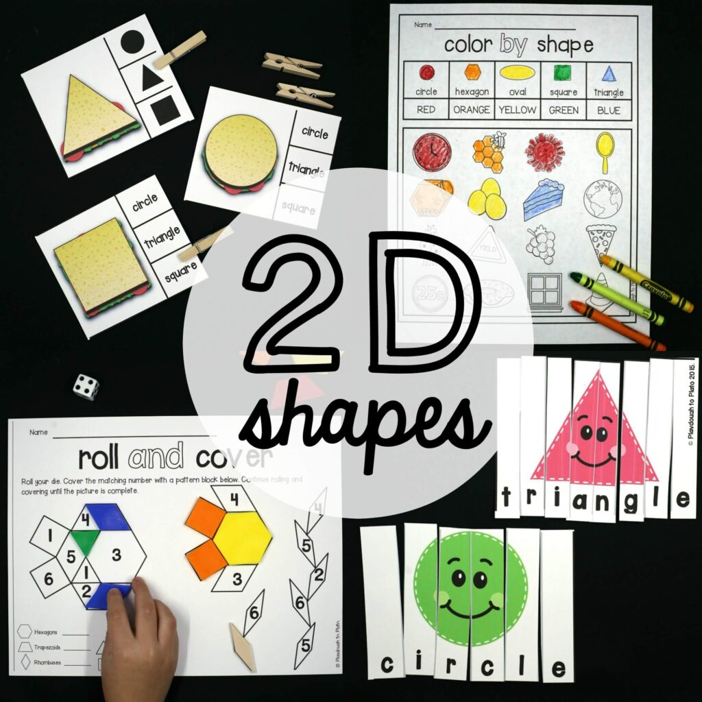 2d Shape Activities Playdough To Plato