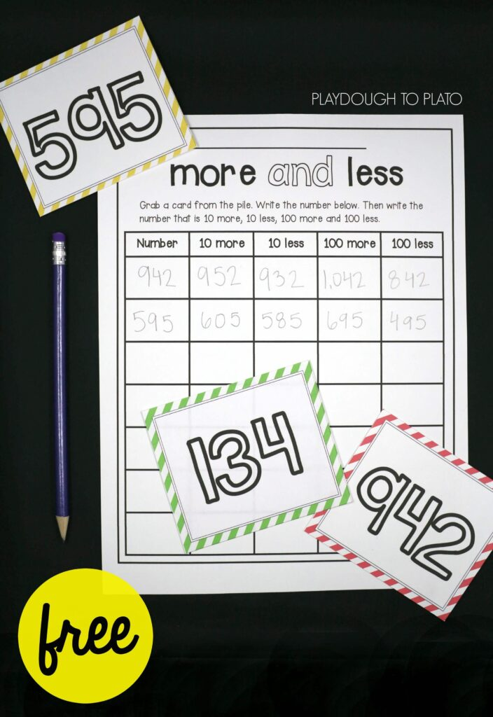 Free number sense activity for kids!