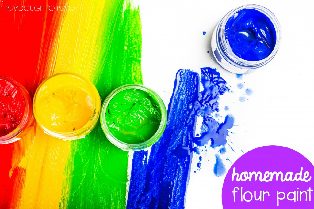 Homemade flour paint recipe