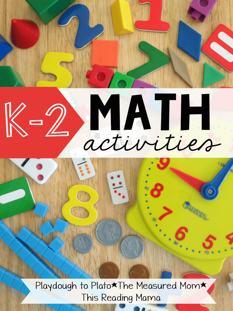K-2 Math Activities - Playdough To Plato