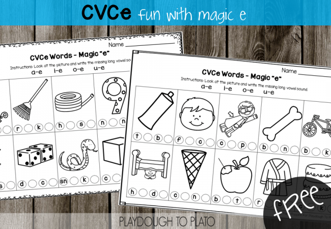 Magic e Activities Playdough To Plato – Silent E Worksheets for First Grade
