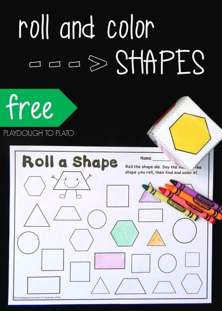 Roll a Shape Game for Kids
