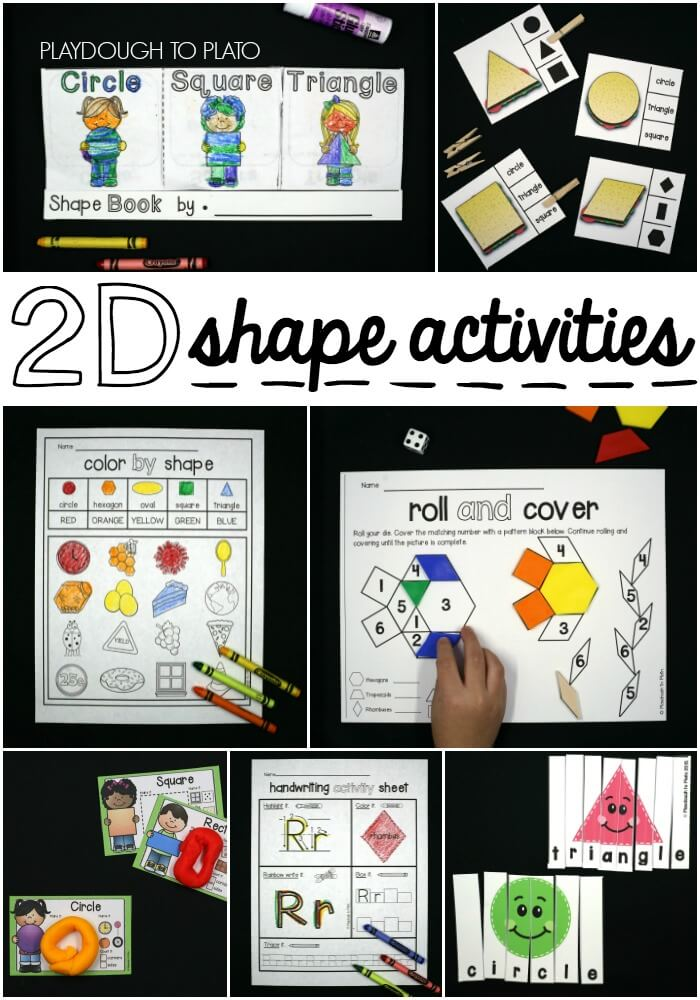 Super fun 2D shape activities for kids!