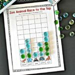 Zoo Animal Race to the Top Counting Game