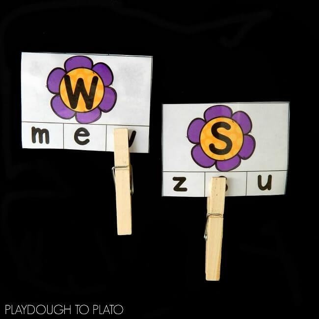 flower alphabet match 1