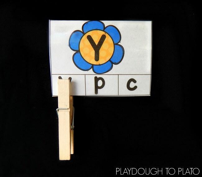 flower alphabet match 2