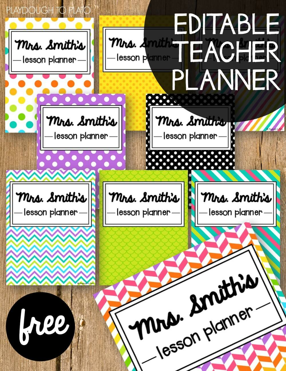 Dynamic image inside free printable teacher planner