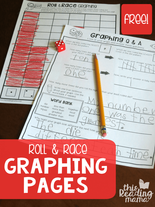 Free Roll and Race Graphing Worksheets