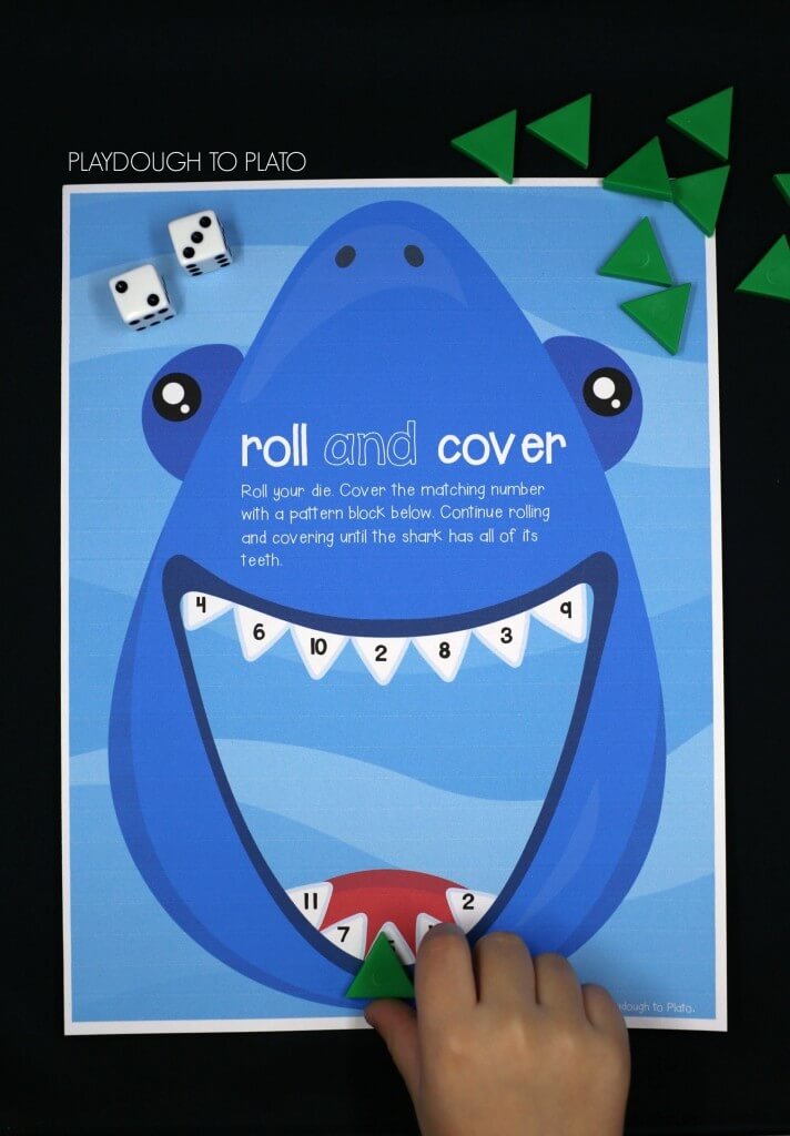 Free roll and cover shark game!
