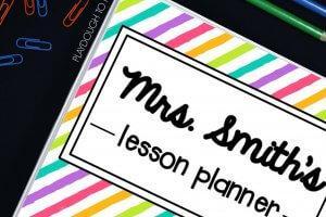 Free Teacher Planner