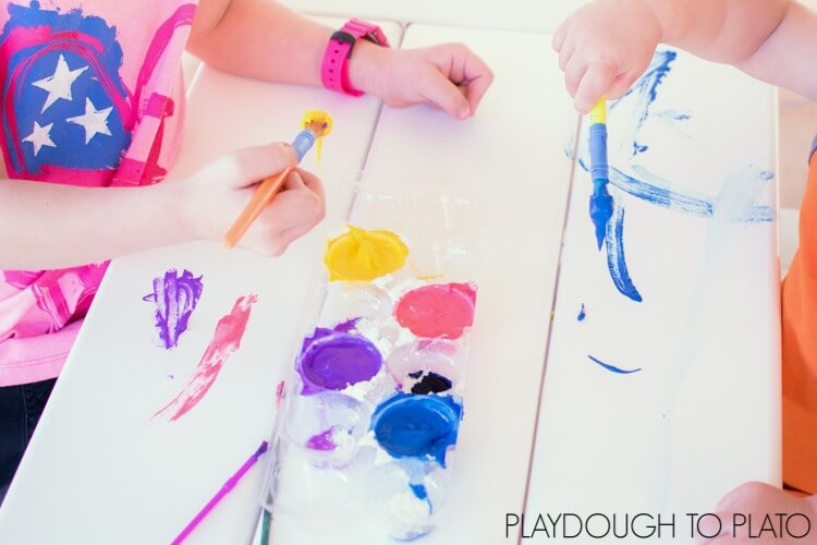 Homemade Fizzy Flour Paint
