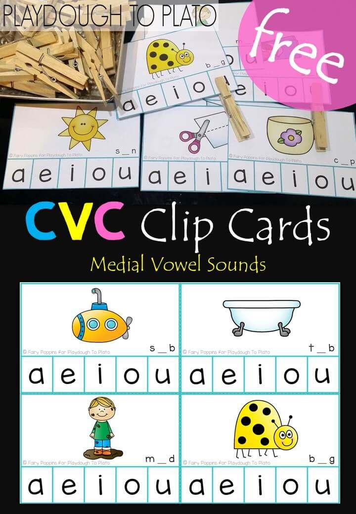 Free CVC Clip Cards